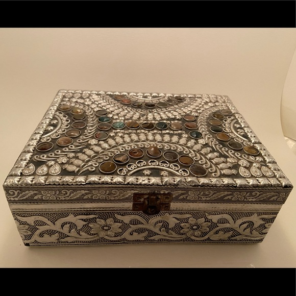 Earthbound Trading Co silver jewelry box